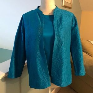 Eileen Fisher Jacket and Silk Tank Set